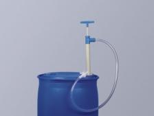 Bơm thùng phuy bằng nhựa PP có ống xả và khóa vòi